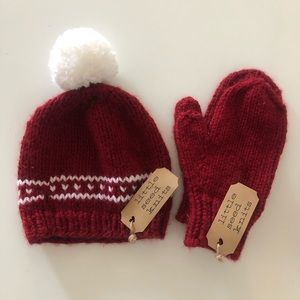 Hand Knit Toque & Mitts